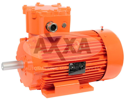 Explosion Proof 3Ph AC Motor, Leroy-Somer, ATEX Gas Zone 1, FLSD 80L, 0.75kW 2P B3, EX II2G Ex db IIB T4 Gb, IE3