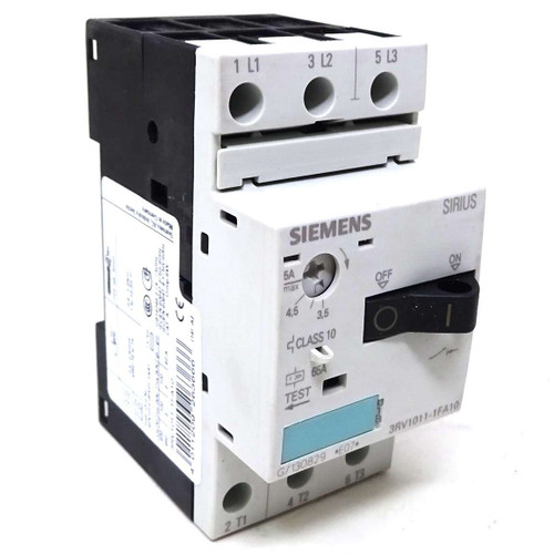 3P Motor Protection Circuit Breaker 3RV1011-1FA10 Siemens 2.5-5A