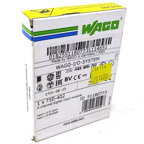 4-Channel Digital Input Module 750-402 Wago