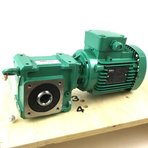 3Ph AC Geared Multibloc Motor Mb2201-NU-H-B3-MUT Leroy-Somer 30:1 47.7rpm 0.55kW