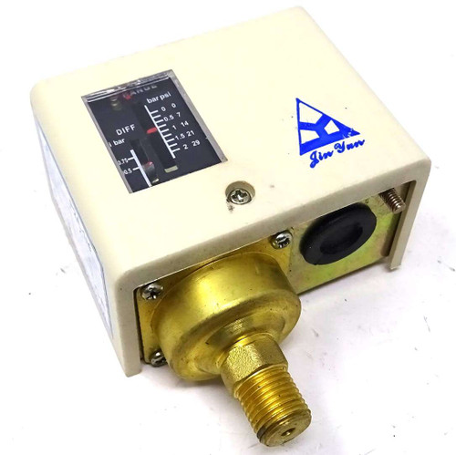 Pressure Switch P2A-1/4 Shjinyun G1/4 -0.7-2bar Diff: 0.5-0.75bar