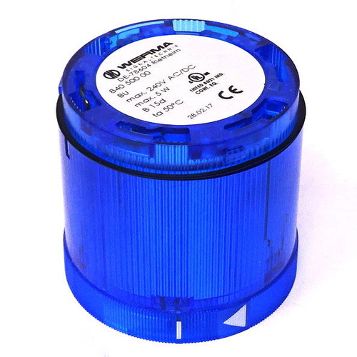 Light Module 840-500-00 Werma Signal Blue 240VAC/DC 5W 70m x 66mm