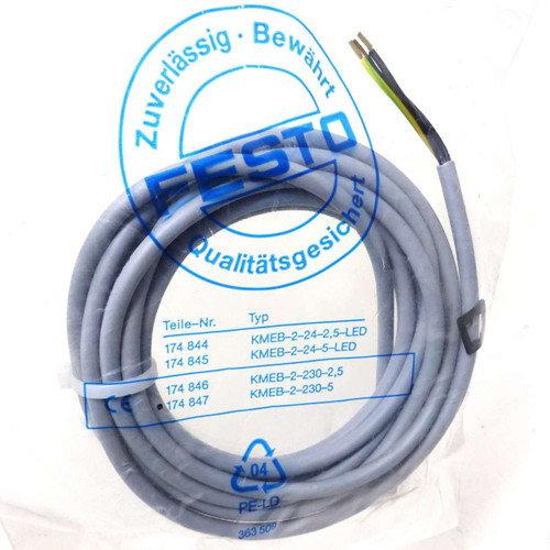 Cable KMEB-2-230-B Festo with Socket