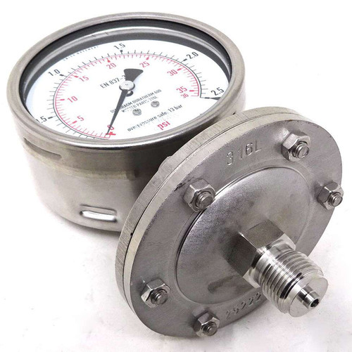 Pressure Gauge 433.50.100 Wika G1/2 2.5bar 8330700