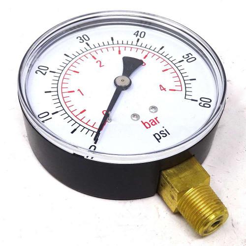 """Pressure Gauge G100-04B Axxa 0-60psi 0-4bar 100m BSPT 3/8"""""""