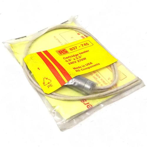 "Cartridge Heater 837-745 RS 0.5"" x 2.5"" 240V 270W"