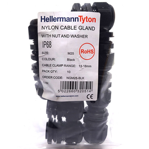 Cable Gland NGM25-BLK HellermannTyton 13-18mm
