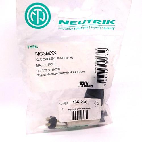 Cable Connector NC3MXX Neutrik 3P Male 16A 50V
