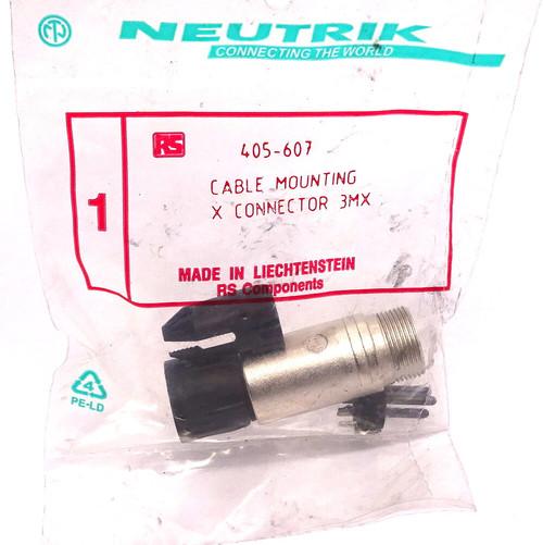 Cable Connector NC3MX Neutrik 3P Male 16A 50V