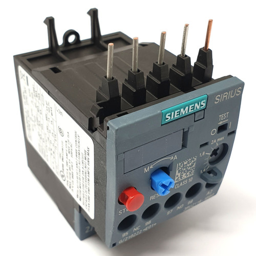 Overload Relay 3RU2116-1BB0 Siemens 1.4-2.0A1NO 1NC