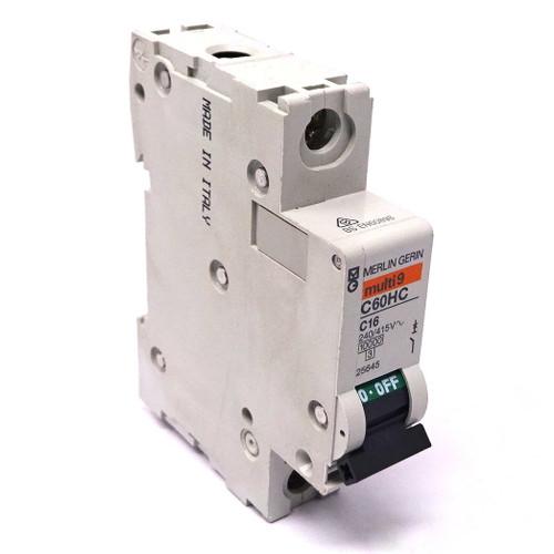 1P Circuit Breaker C60HC-C16-25645 Merlin Gerin 16A C-Curve *New*