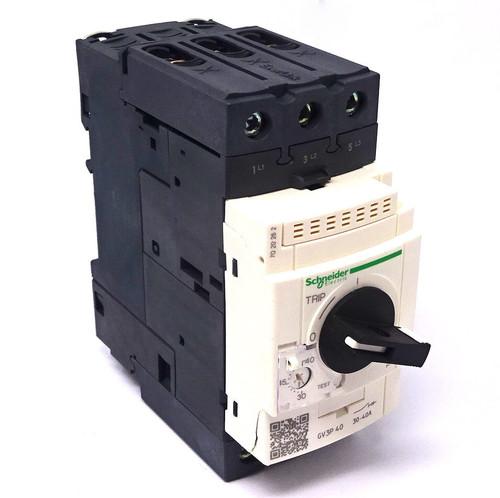 3P Circuit Breaker GV3P40 Schneider 400VAC 30-40A 50kA