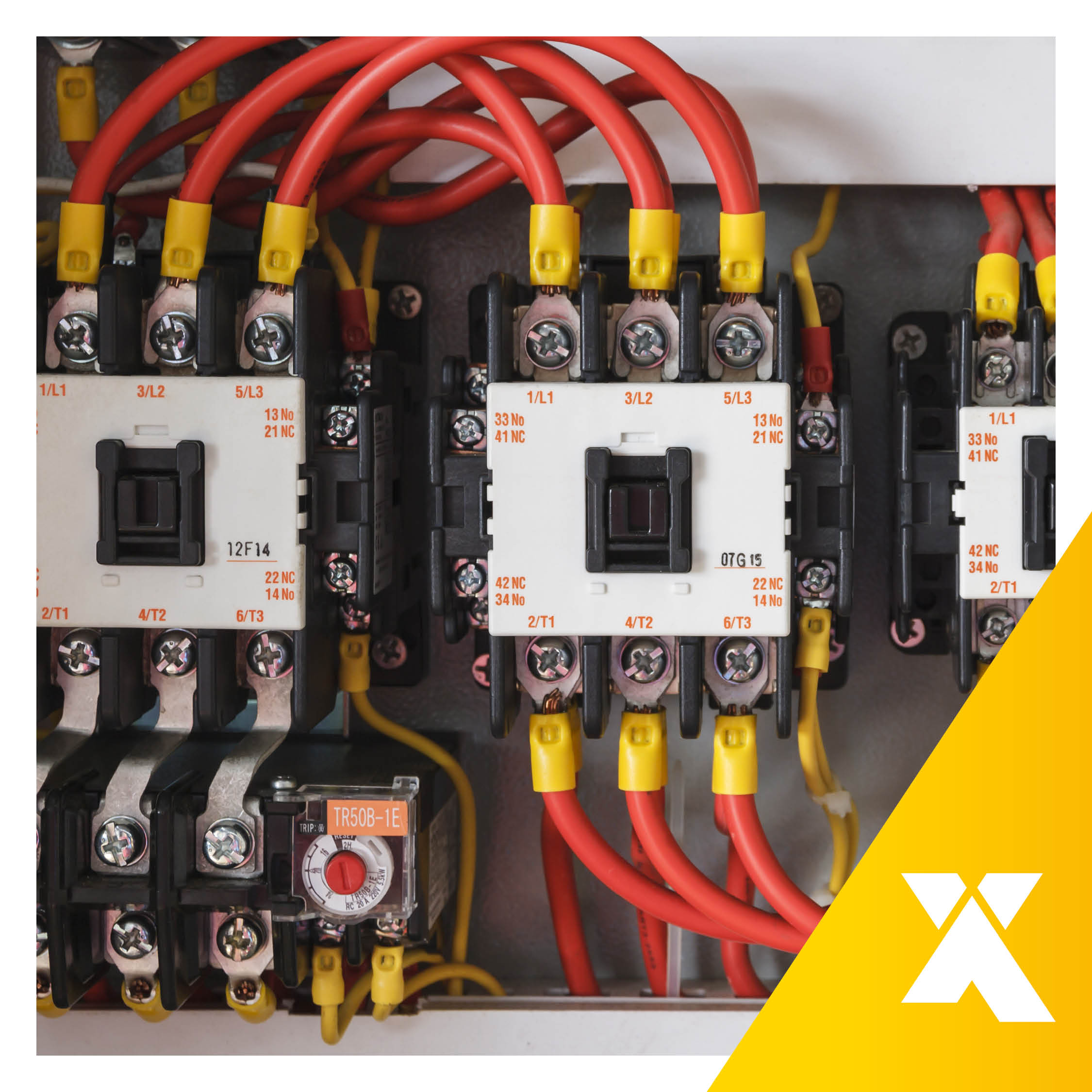 Picture taken by Axxa Ltd: Contactors installed and ready for action!