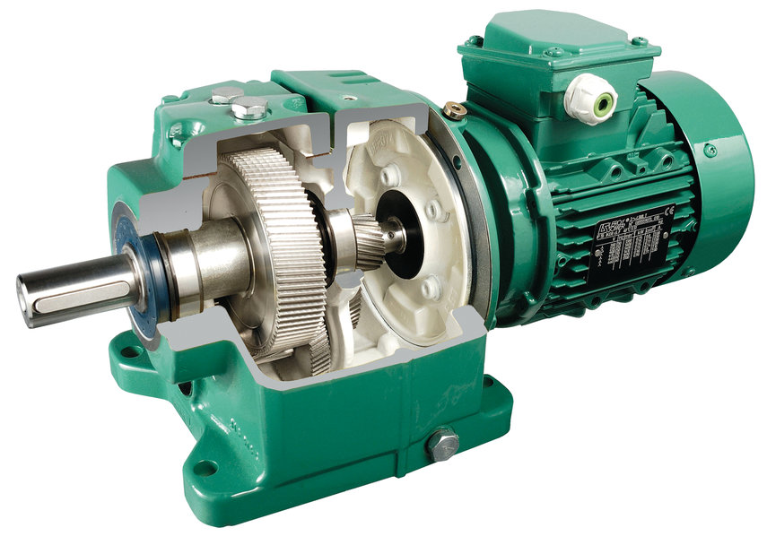 Opened Leroy-Somer Geared Motor Picture