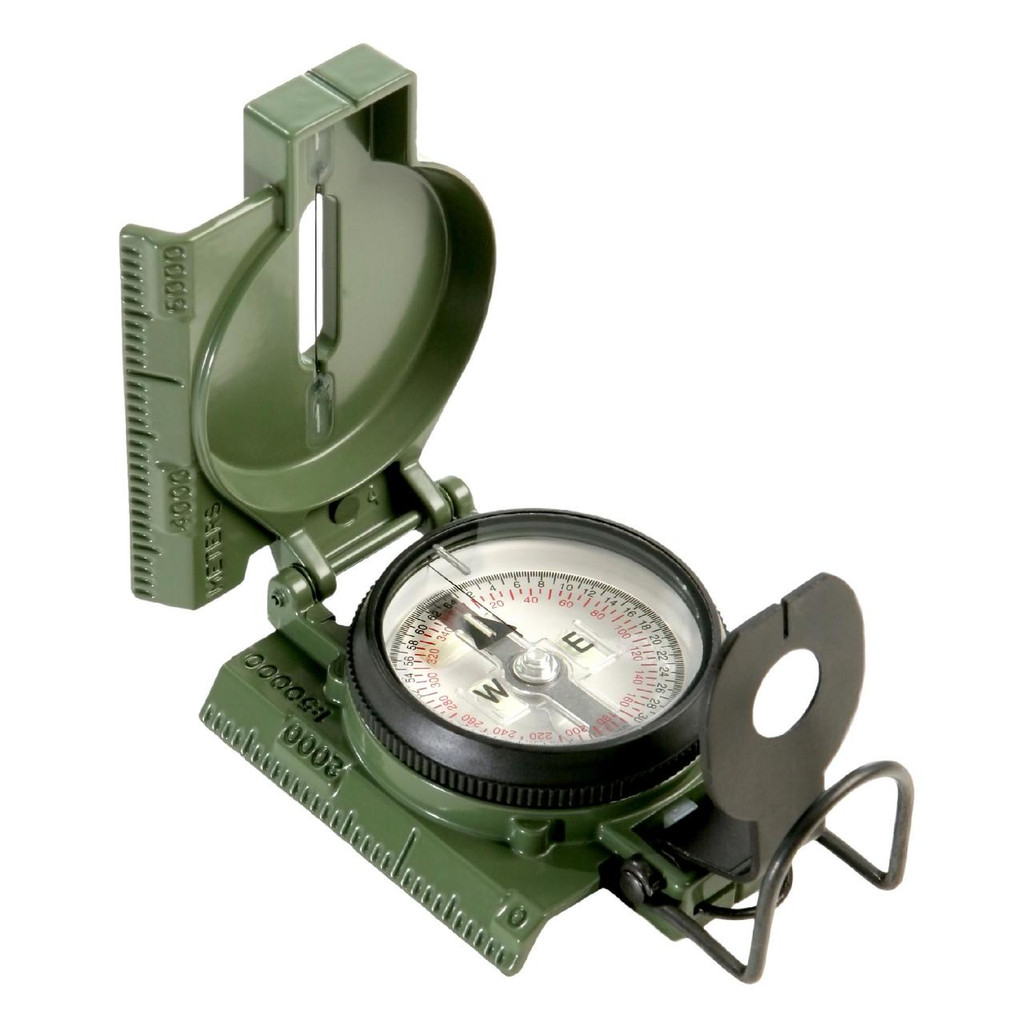 Official US Military Lensatic Compass - Tritium, Clam Pack