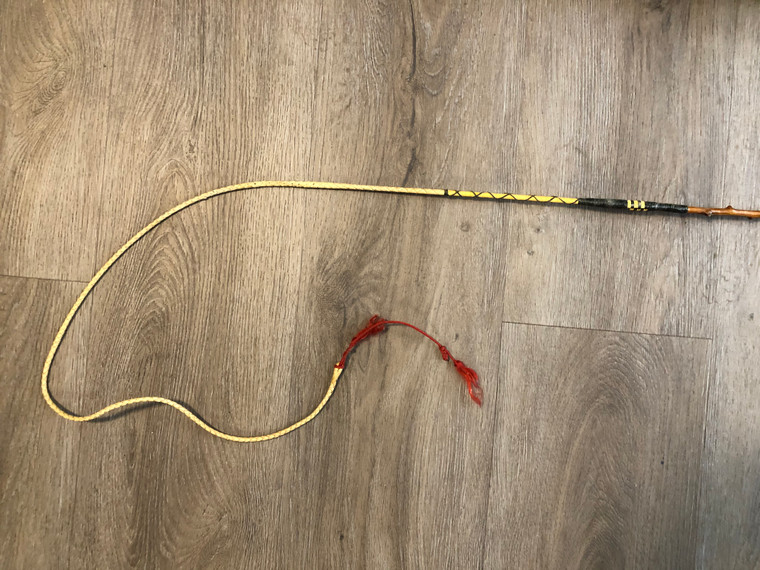 """Holly Whip with Leather Lash - 4-in-hand whip 67"""""""