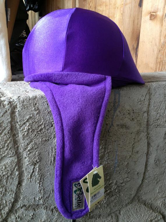 Winter Helmet Cover Fleece/Lycra Black