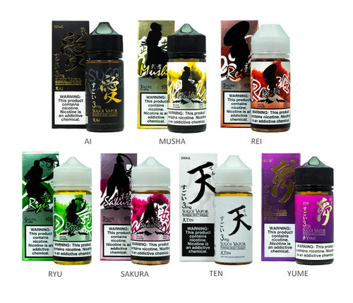 Sugoi Vapor 100mL All Flavors