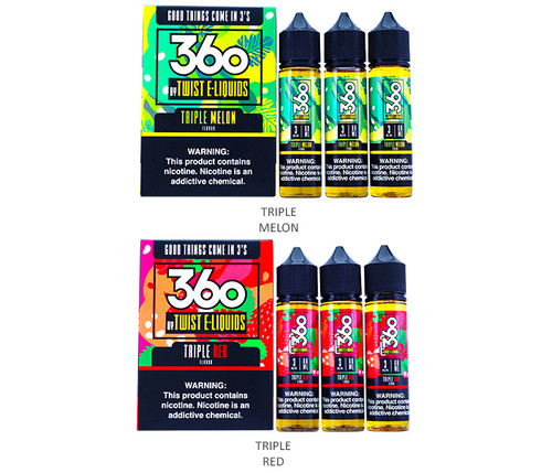 360 Series By Twist Eliquids (180mL)