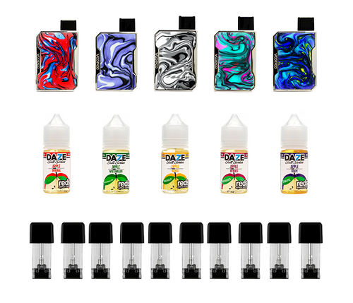 Drag Nano p1 pods 7daze reds Bundle Deal