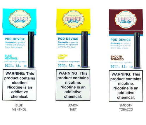 Dinner Lady Disposable E-Cigarette All Flavors