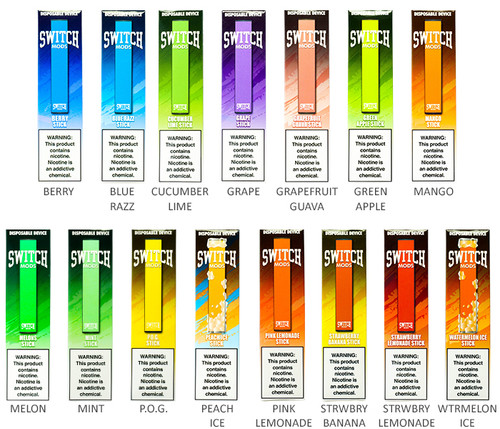Switch Mods Disposable E-Cigs All Flavors