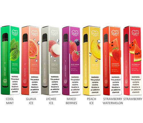 Puff Plus Disposable E-Cigs 5% All Flavors