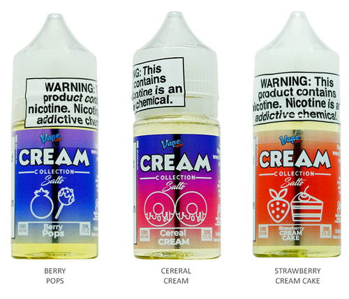Vape 100 Cream Salt Series (30mL) All Flavors