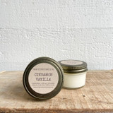 NEW SIZE!  Cinnamon Vanilla soy candle- mini