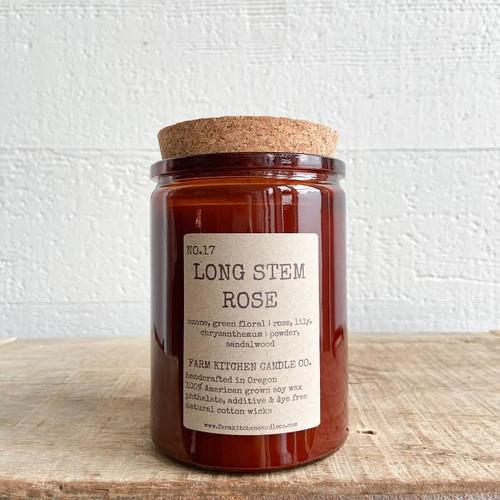 Long Stem Rose soy candle- amber