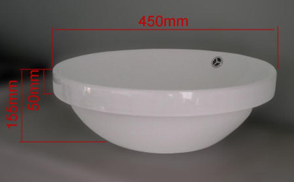 Round Drop In Basin D293