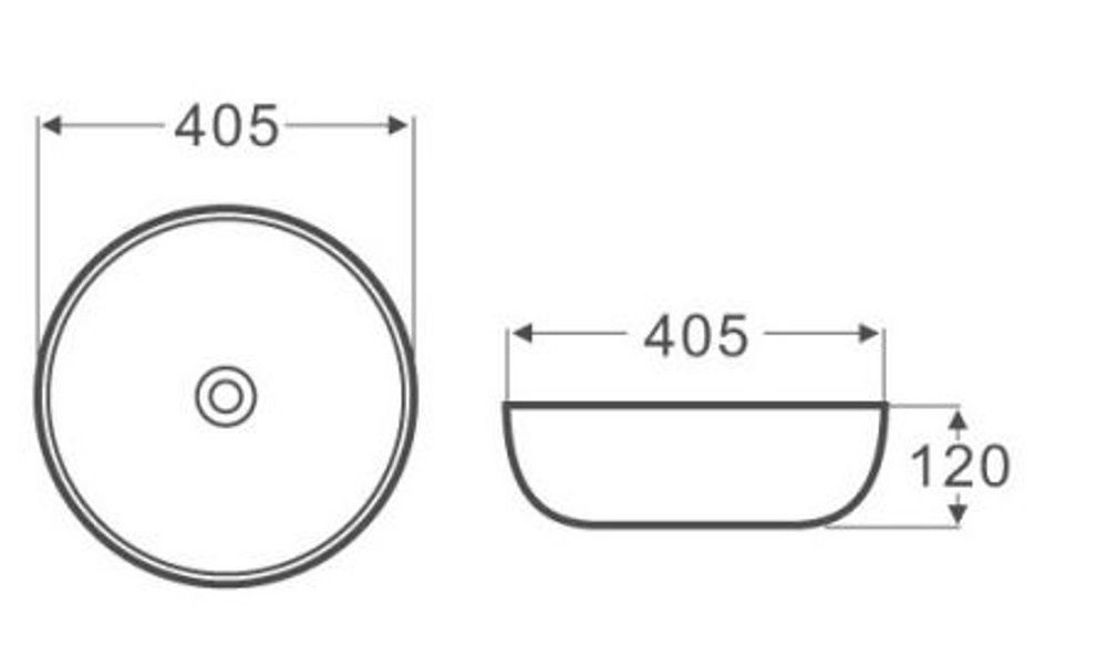 4mm Ultra Slim Ceramic Basin 3004