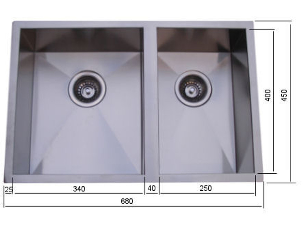 NORMANDY CUBE 1&3/4 Sink - UNDERMOUNT OR DROP IN