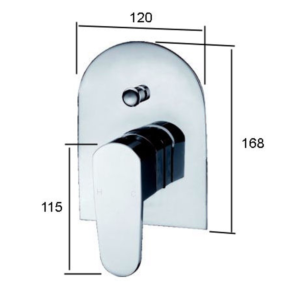Brand New Round Oval Shower and Bath Mixer with Diverter