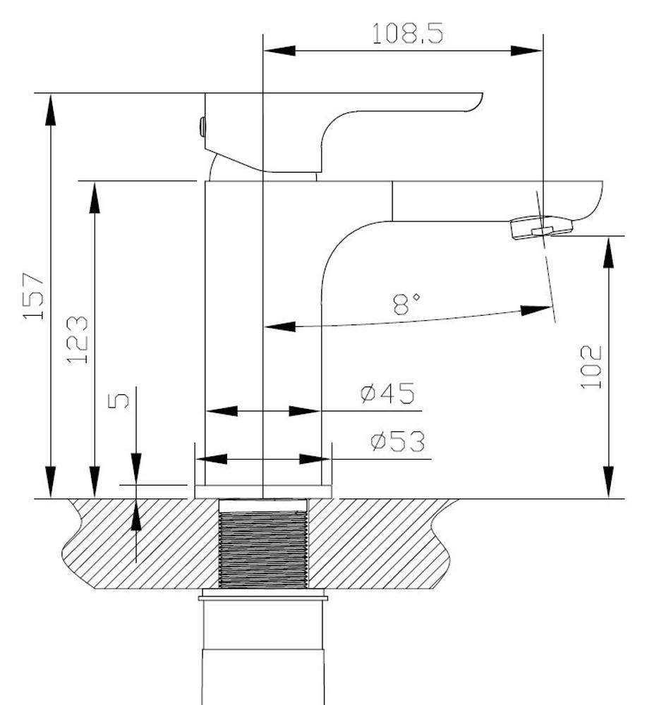 Normandy ETHAN Basin Mixer Tap - Matt Black