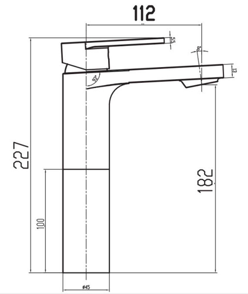 Linsol Realm Tower Basin Mixer