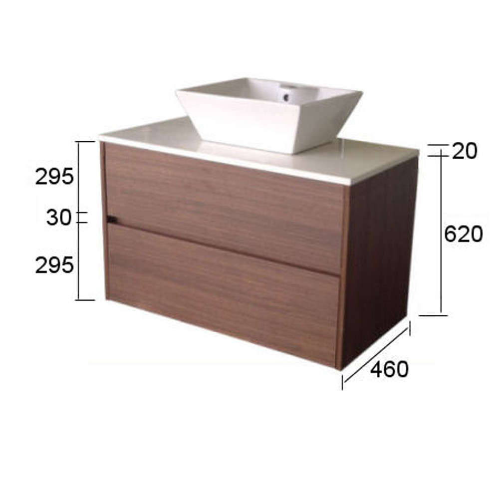 Chiron SIX Vanity with Stone Bench & Undermount Basin 1500mm Wall Mounted HA