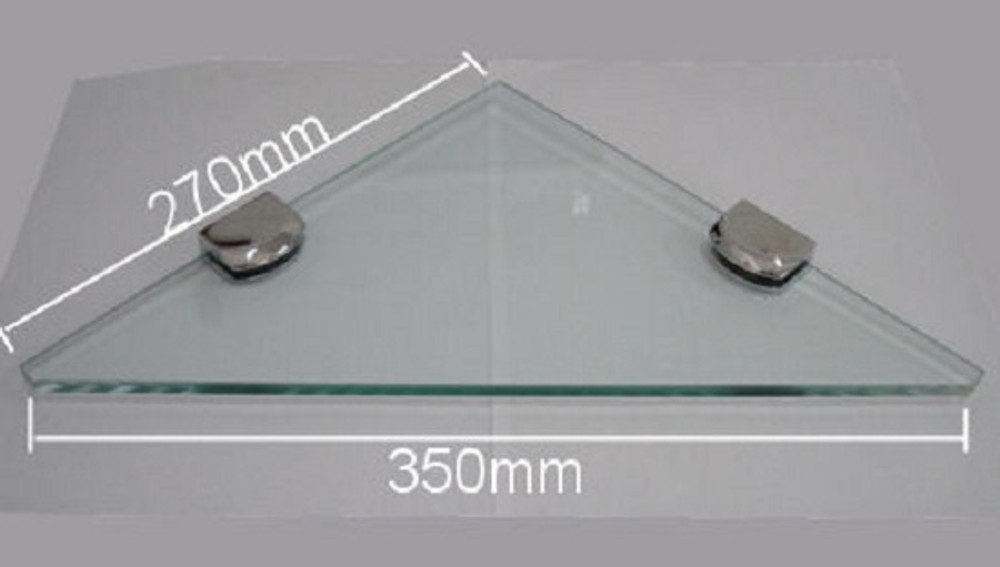 Corner Triangle Glass Shelf
