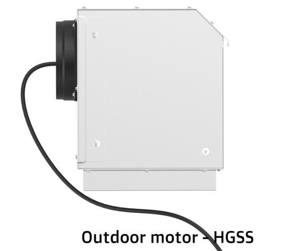 Dilusso SS CANOPY RANGEHOOD - 900MM Option External Motor