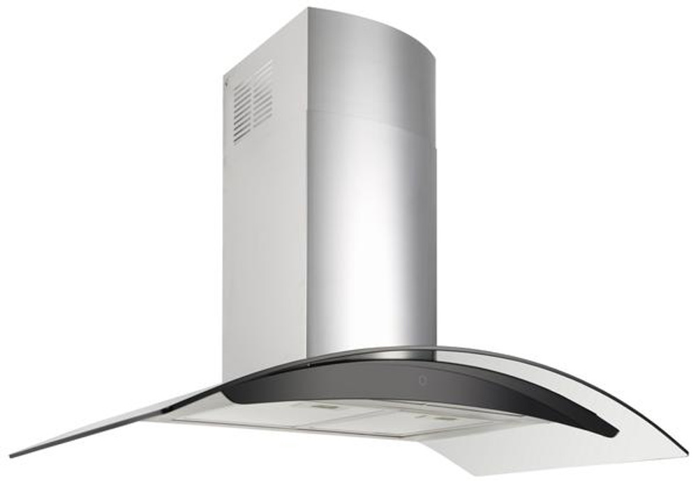 Dilusso CURVED GLASS CANOPY RANGEHOOD - 900MM Option External Motor