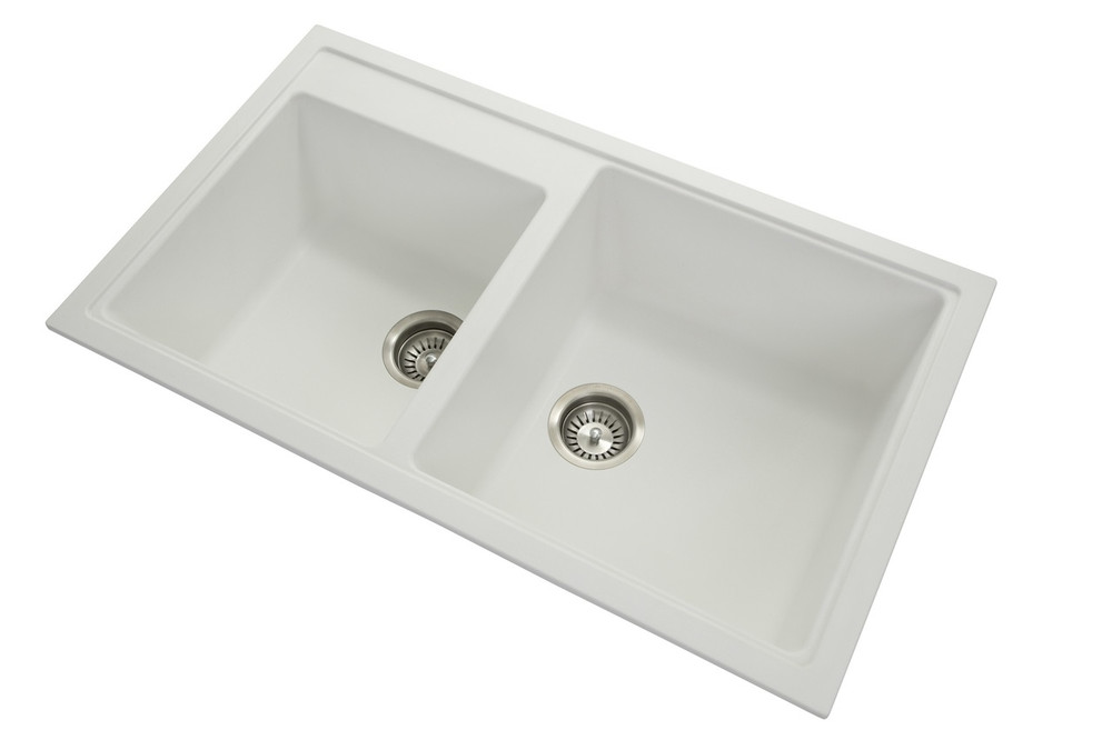 Zum Granite Kitchen Sink - Drop In or Under Mount - Double Bowl 860 x 500