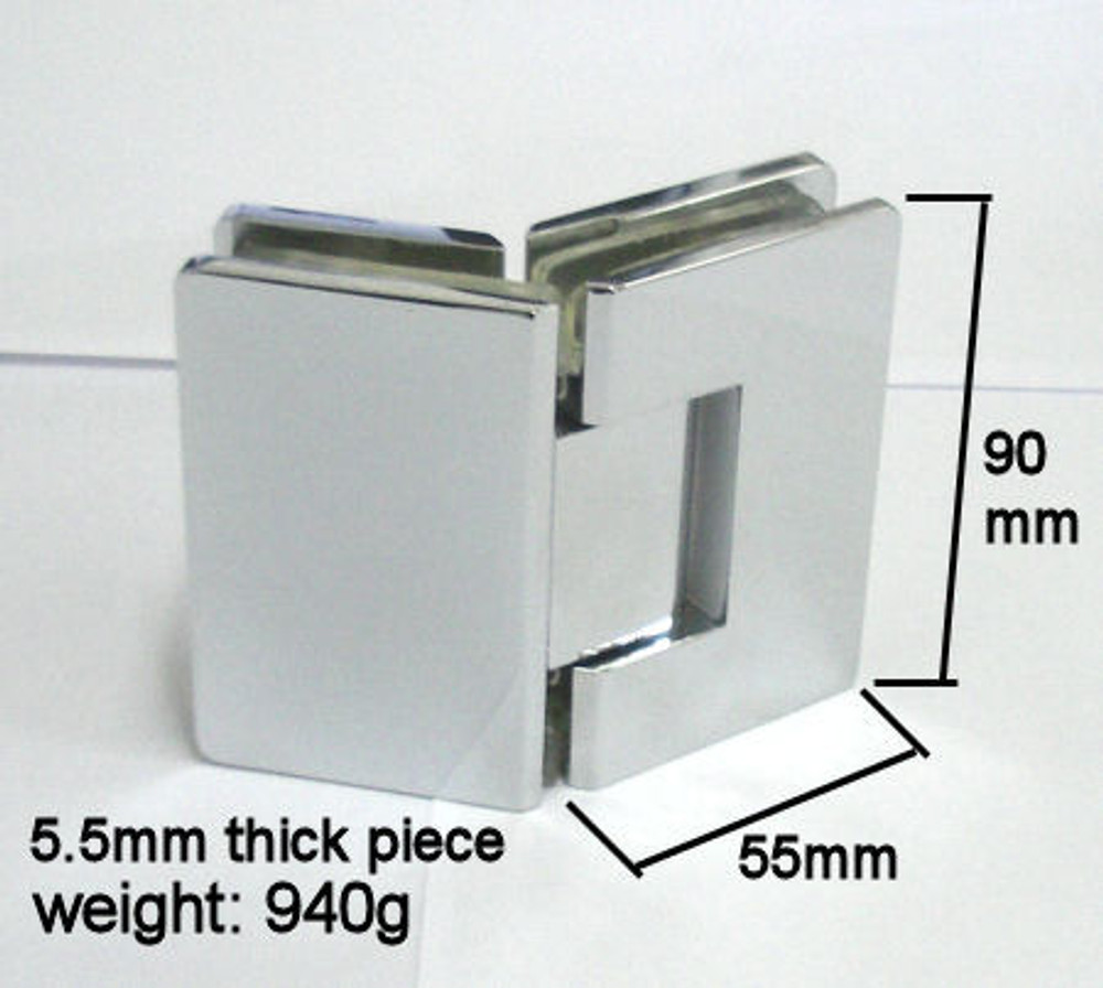 135 Degree Hinge for Frameless Shower Screen - Matt Black