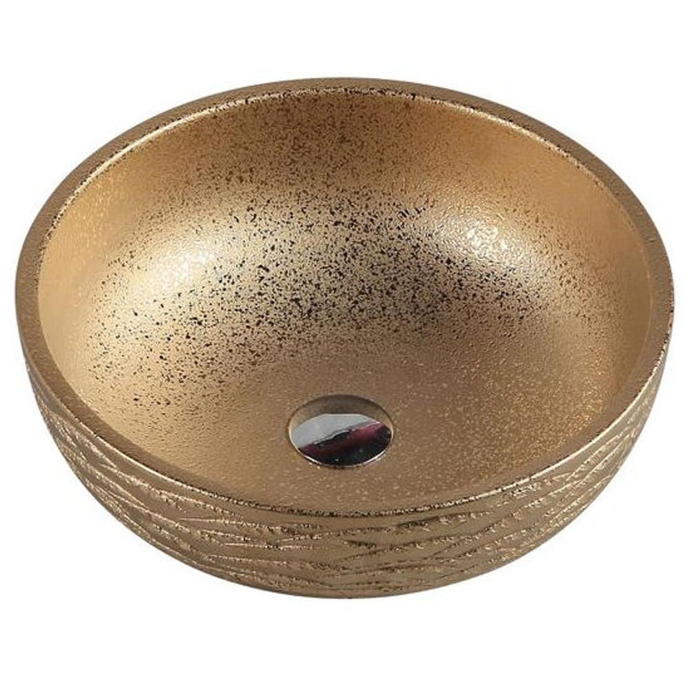 Above Counter Round Art Basin - Gold Finish