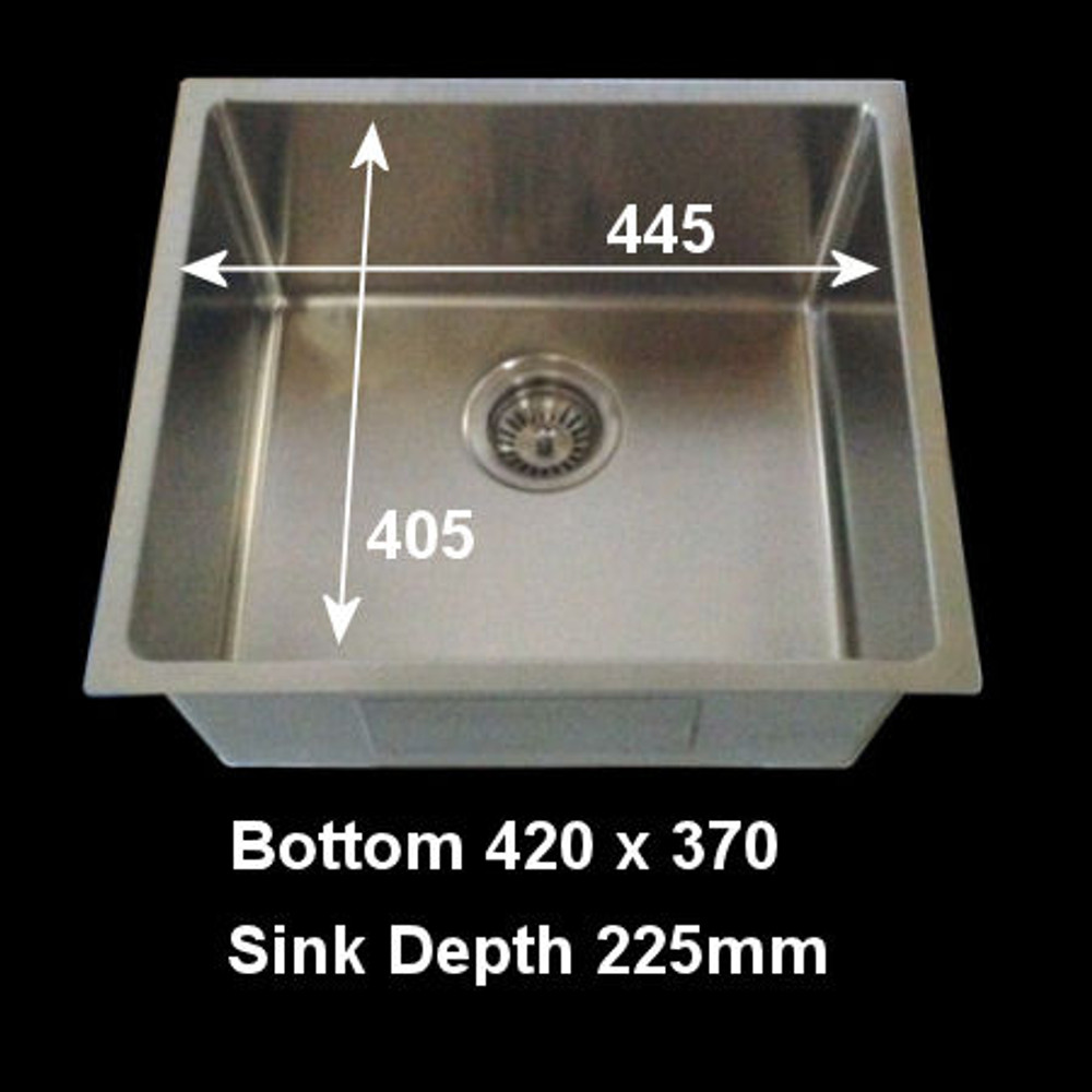 Project Undermount Square Sink, Single Bowl 440mm
