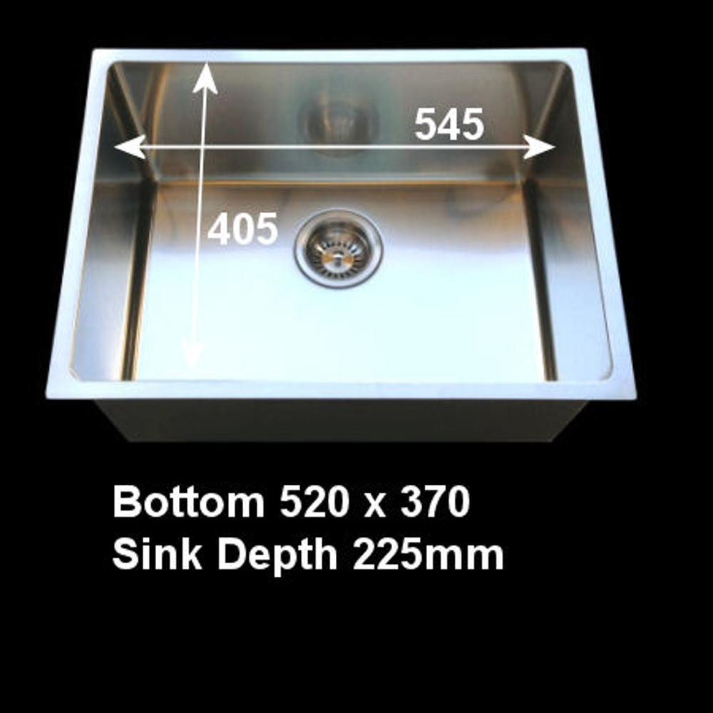Project Undermount Square Sink, Single Bowl 540mm