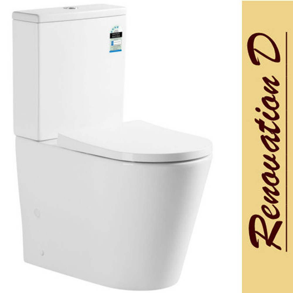 Normandy RHINE Wall Faced Toilet Suite - RIMLESS