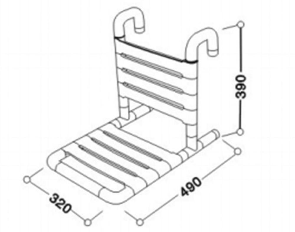 Linkware Hanging Shower Seat