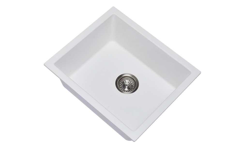 CarySil Salsa Granite Kitchen Sink - Drop In or Under Mount - Single Bowl 533x457