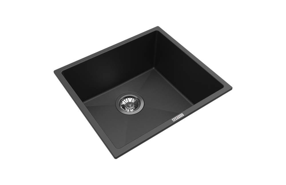 CarySil Magic Salsa Granite Kitchen Sink - Drop In or Under Mount - Single Bowl 457x406