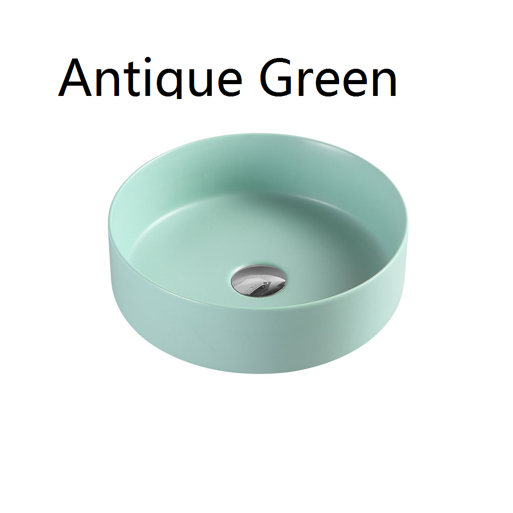 3134 Art Basin - Green Brown Black White Grey Gold
